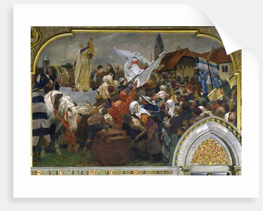 Sophie of Brabant presenting Henry the Child to the people of Marburg in 1248, 1903 by Peter Johann Theodor Janssen