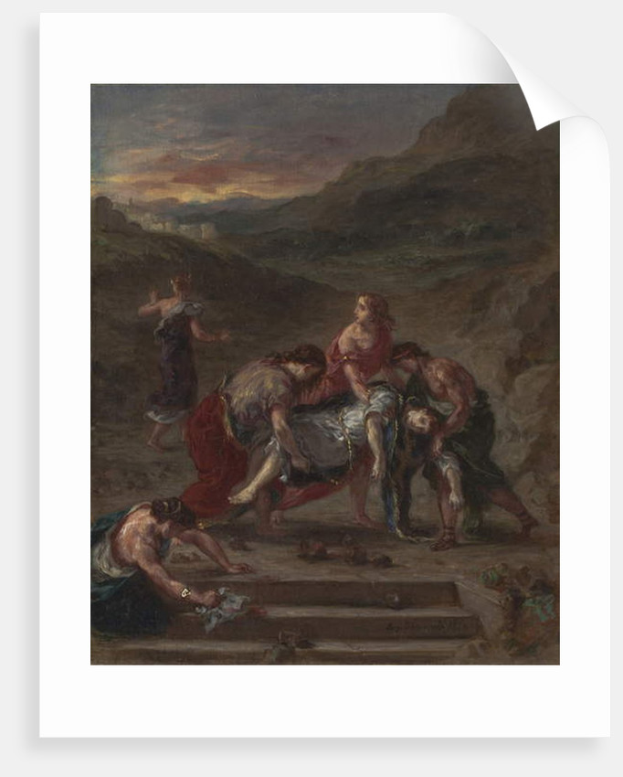 St. Stephen Borne Away by his Disciples, 1862 by Ferdinand Victor Eugene Delacroix