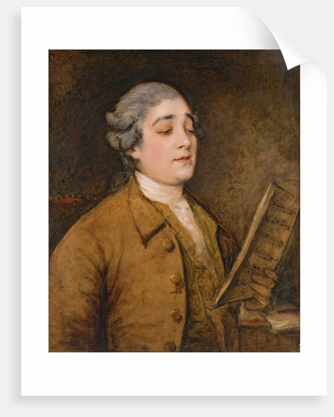 Portrait of Giusto Ferdinando Tenducci castrato singer and composer, c.1773-75 by Thomas Gainsborough