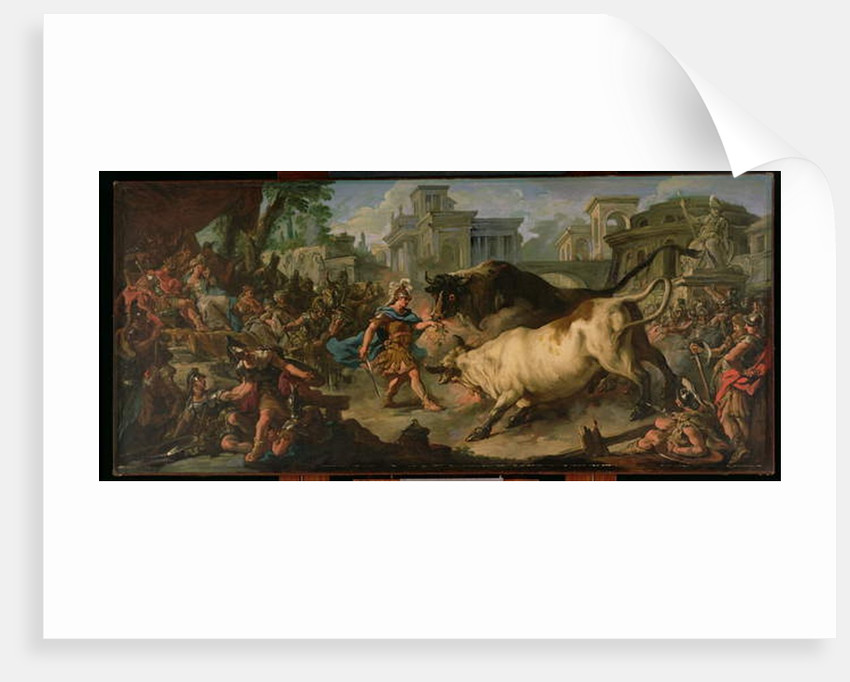 Jason Taming the Bulls of Aeetes, 1742 by Jean Francois de Troy