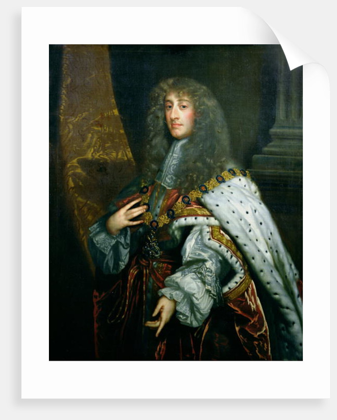 Portrait of James II in Garter Robes by Peter Lely