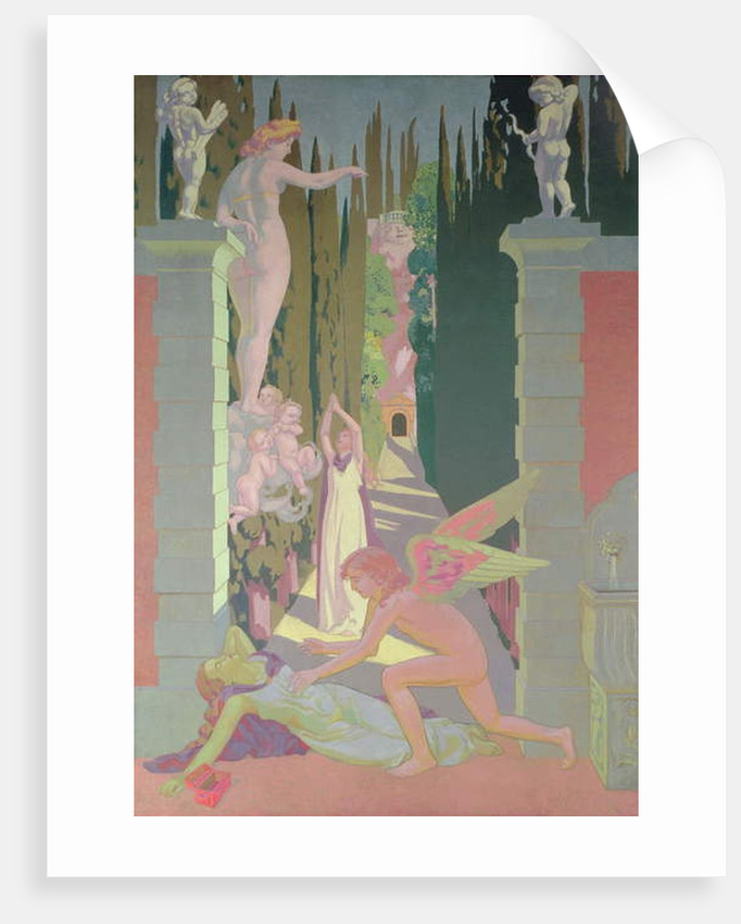 The Vengeance of Venus: Psyche, Opening the Box of Dreams in the Underworld, Sinks into Sleep, 1908 by Maurice Denis