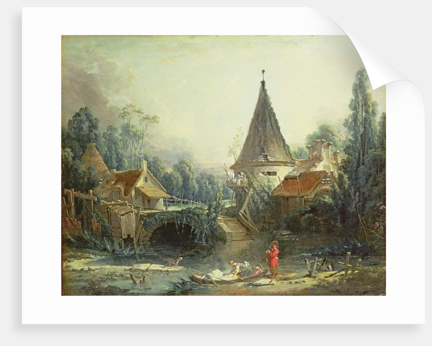 Landscape near Beauvais, early 1740s by Francois Boucher