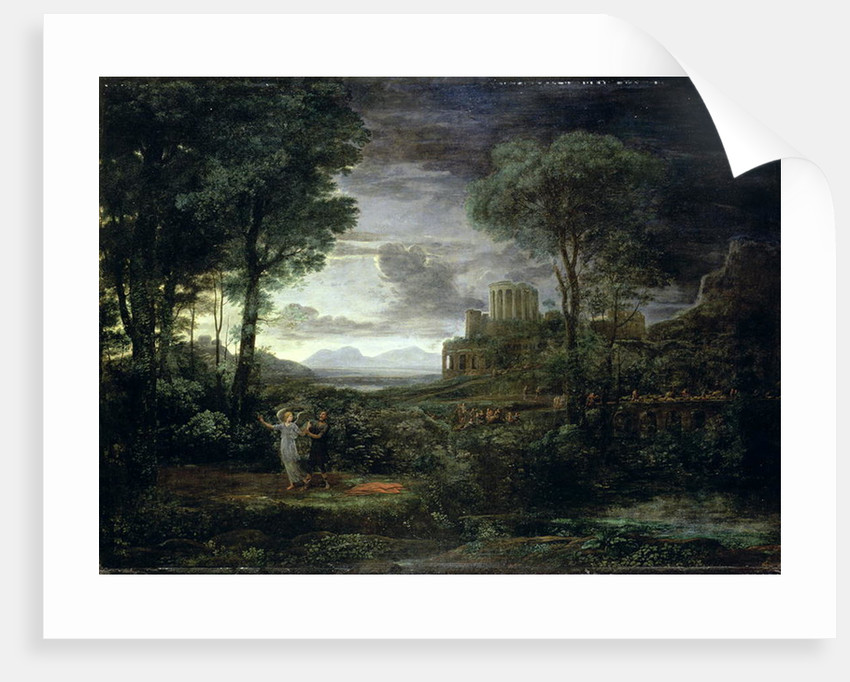 Landscape with Jacob Wrestling with the Angel, or Night, 1672 by Claude Lorrain (1600-82)