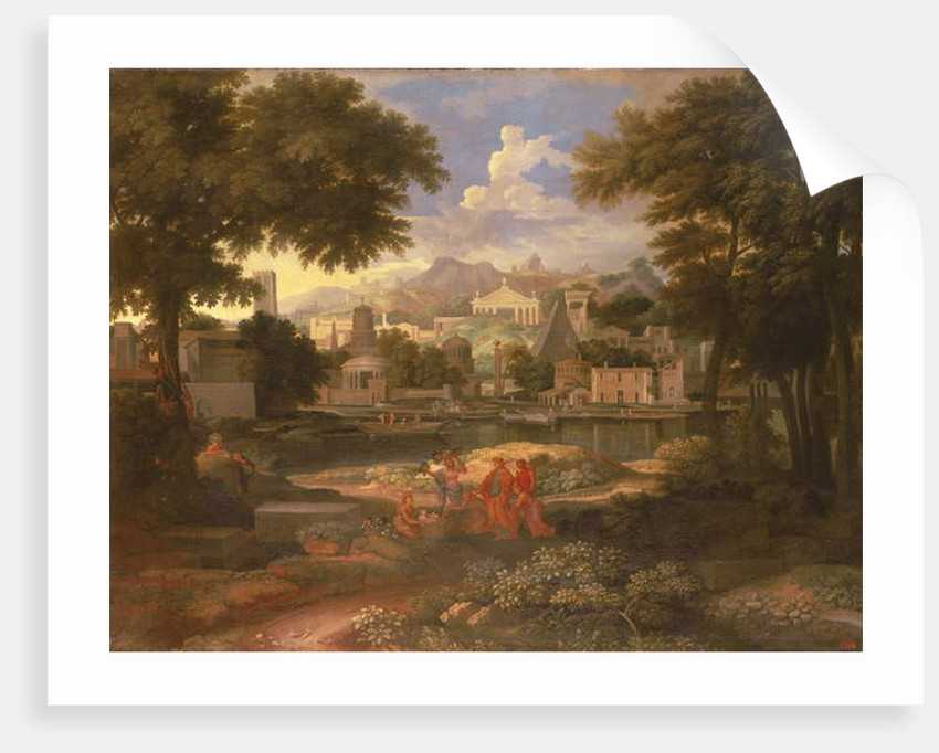 Landscape with Moses Saved from the River Nile by Etienne Allegrain
