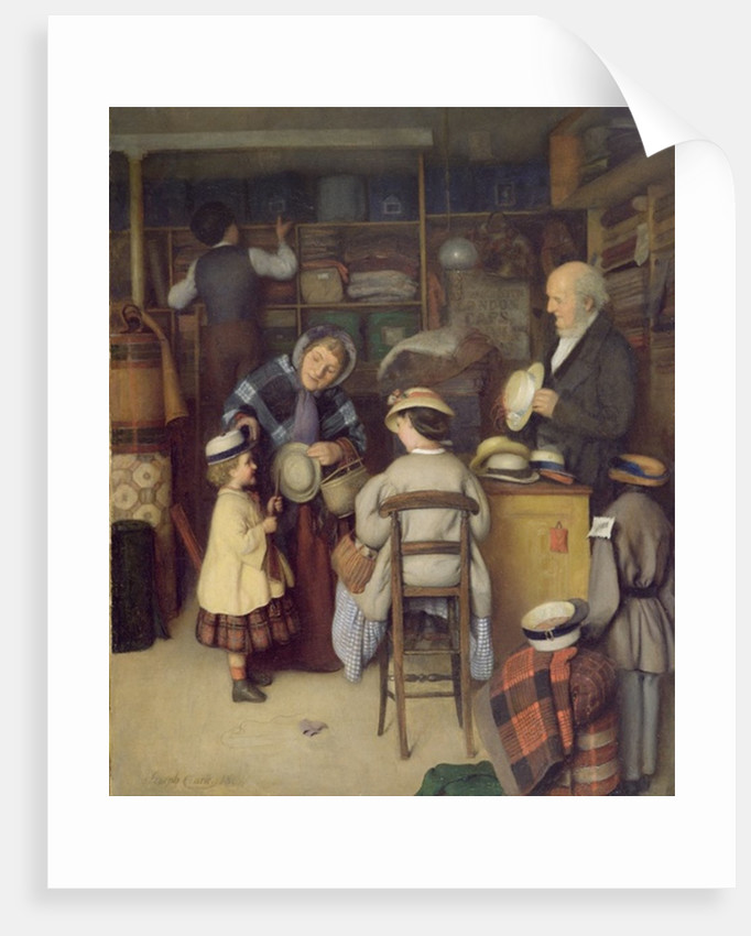 Buying a New Hat, 1880 by Joseph Clark