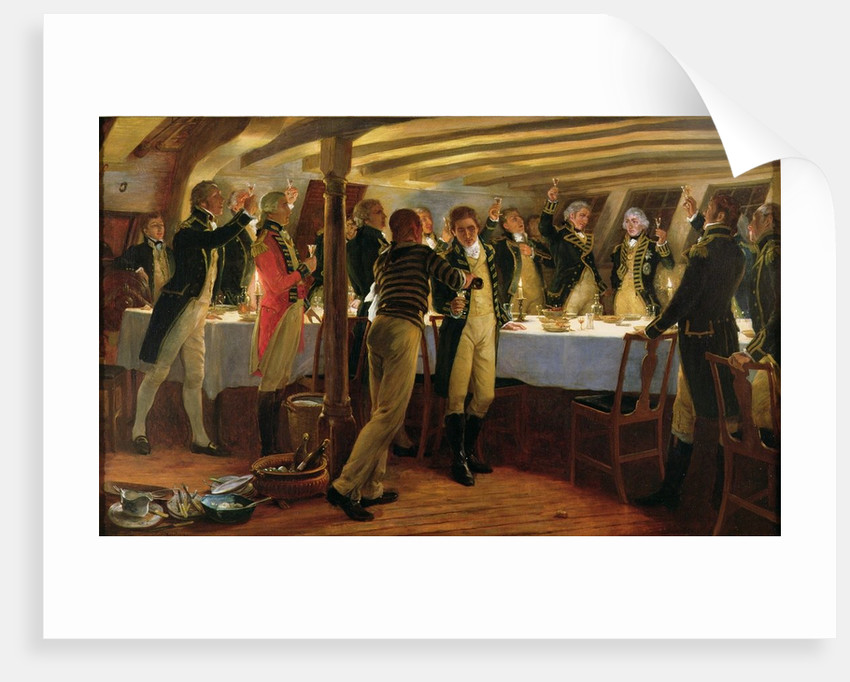 Admiral Nelson raising a toast to victory with his fellow officers the night before the Battle of Copenhagen by Thomas Davidson