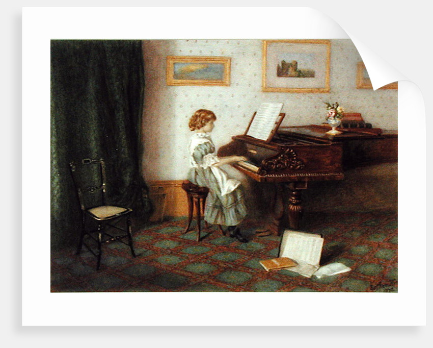 At the Piano, 1876 by Esther H. Jones