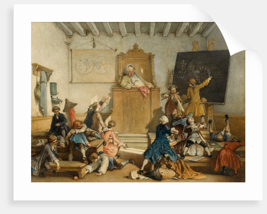 'Education for the Privileged', A School for the Children of Courtiers, Vienna, 1867 by Cesare Felix dell' Acqua