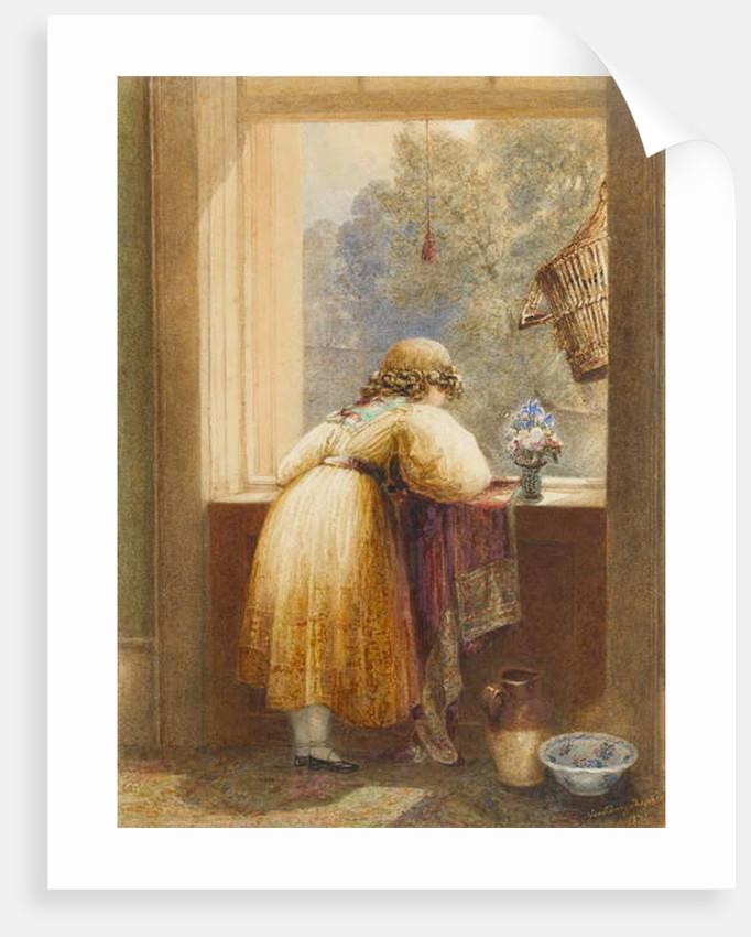 Looking from an Upstairs Window, 1832 by George Sidney Shepherd