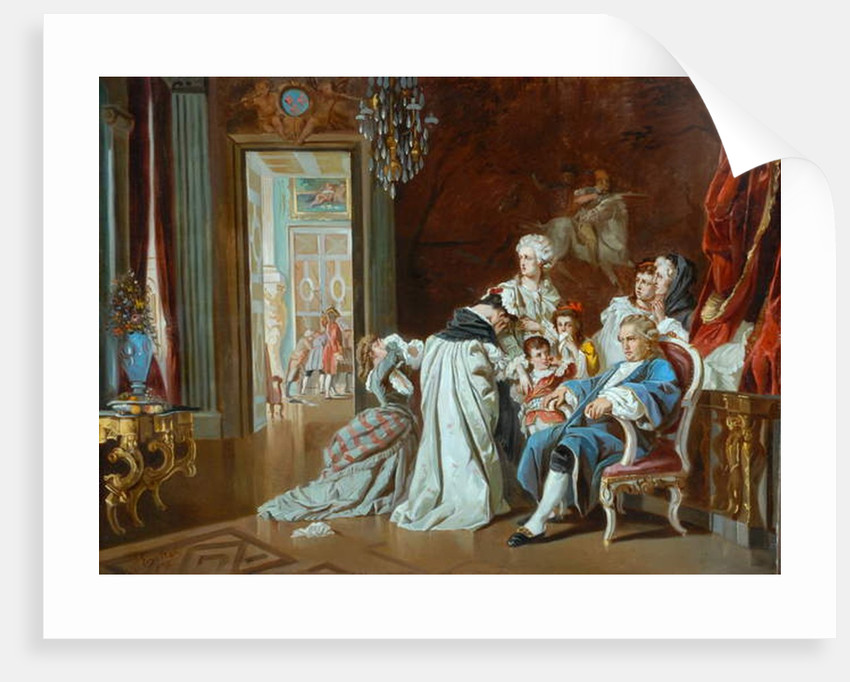 Louis XVI and the Royal Family at the Fall of Versailles, 1878 by J. Eckel