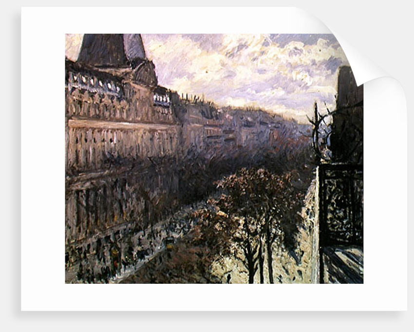 Boulevard des Italiens, c.1880 by Gustave Caillebotte