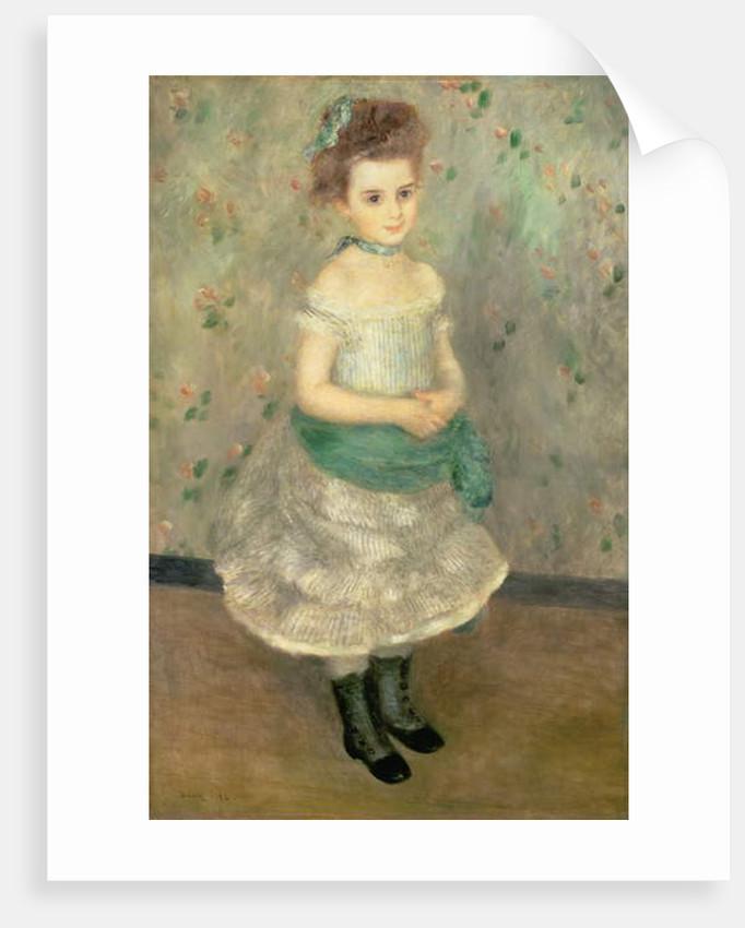Jeanne Durand-Ruel 1876 by Pierre Auguste Renoir