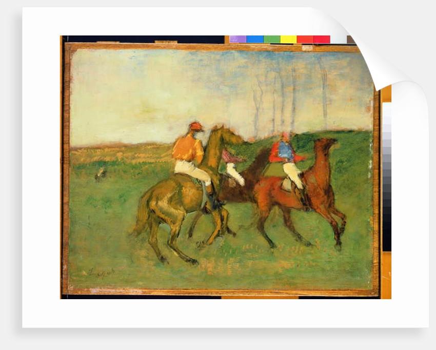 Jockeys and Race Horses, c.1890-95 by Edgar Degas