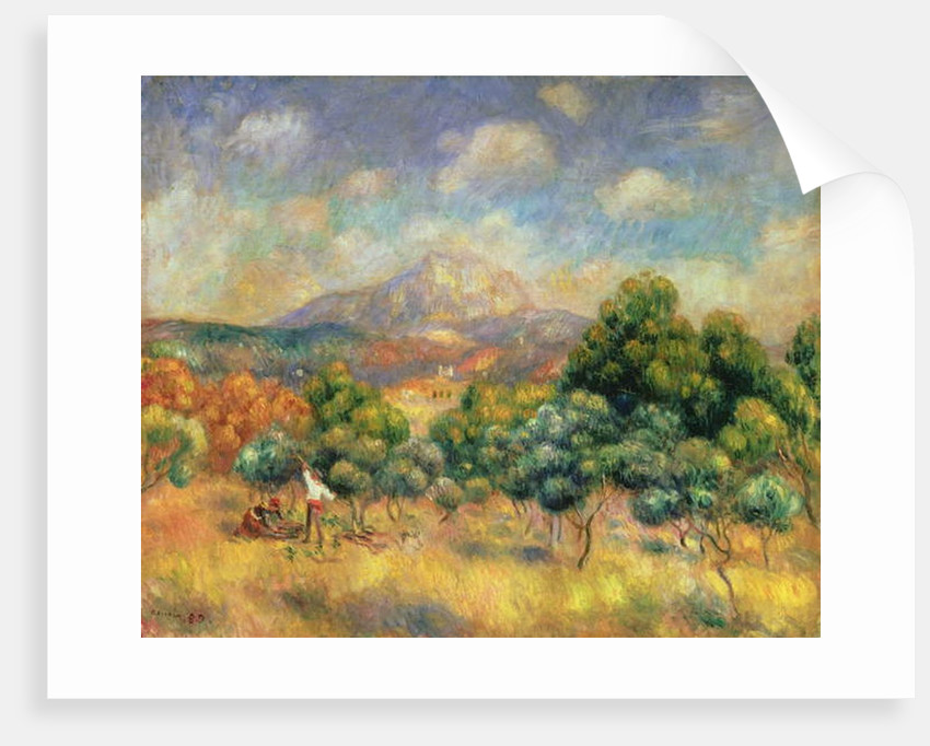 Mont Sainte-Victoire, 1889 by Pierre Auguste Renoir