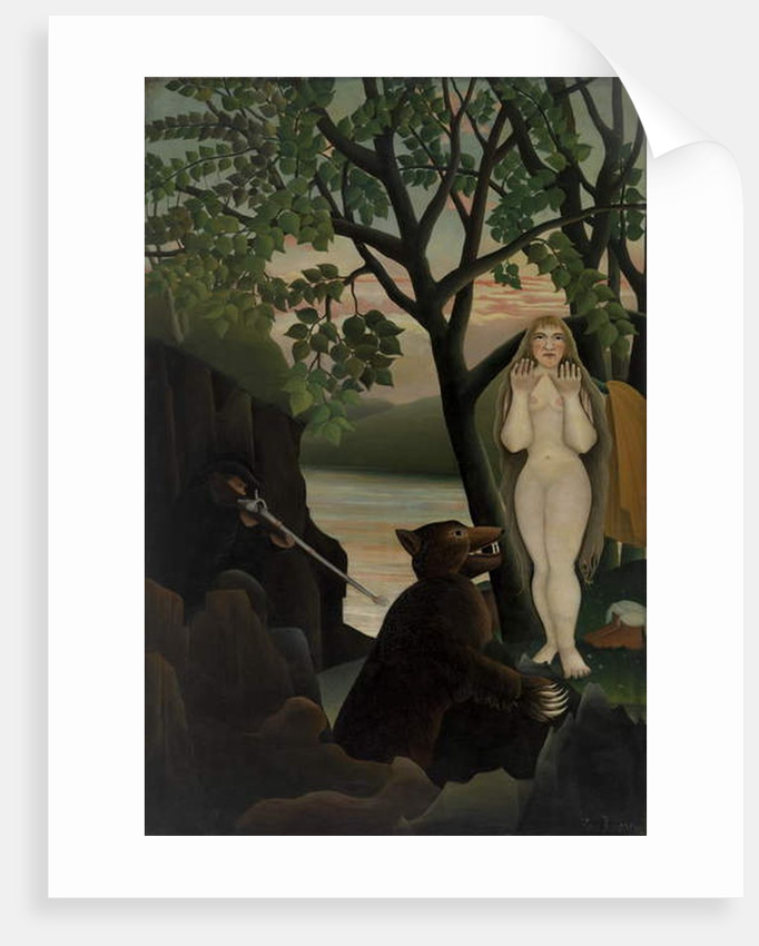 Nude and Bear, 1901 by Henri J.F. Rousseau