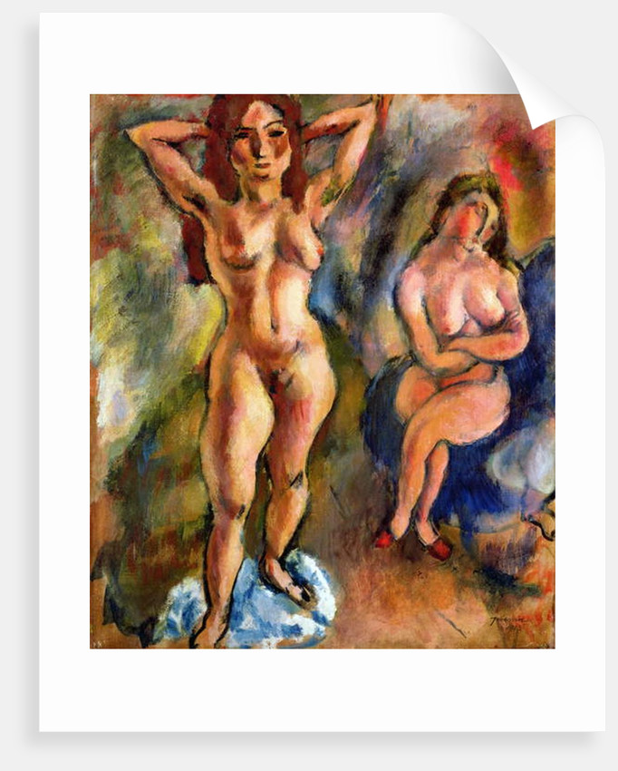 Two Nudes: One Standing, One Sitting, 1913 by Jules Pascin