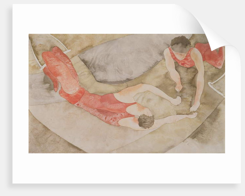 Two Trapeze Performers Red, 1916 by Charles Demuth