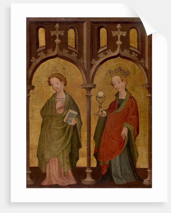 Two Female Saints by German School