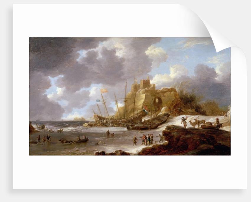 Norwegian coastal scene by Jan Peeters