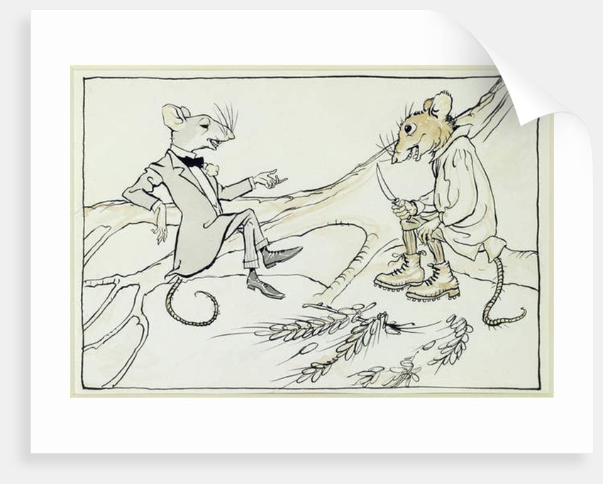 The Town Mouse and the Country Mouse by Arthur Rackham