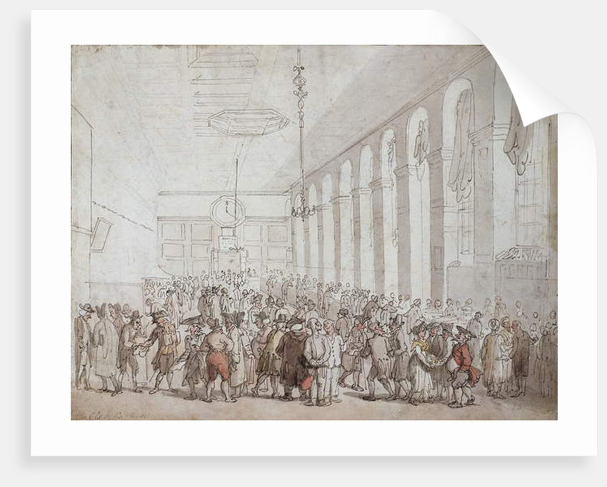 The Old India House by Thomas Rowlandson