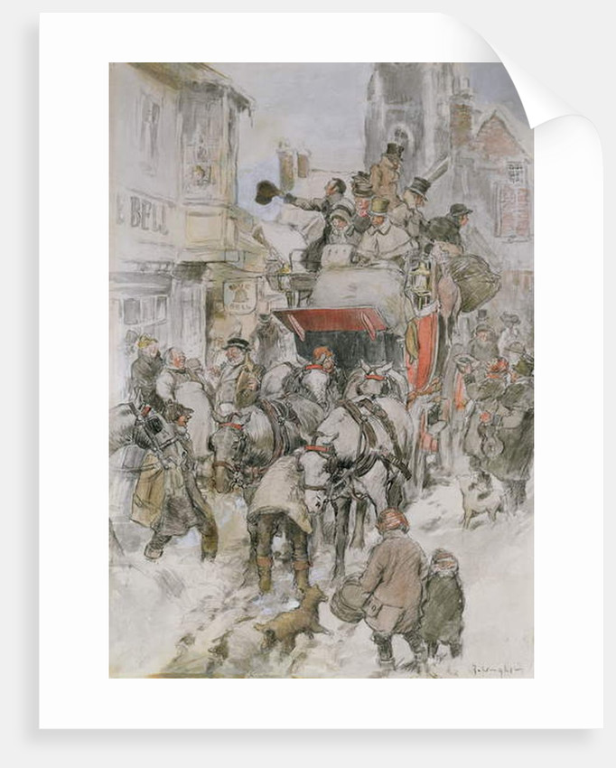 The Christmas Stagecoach by George Wright