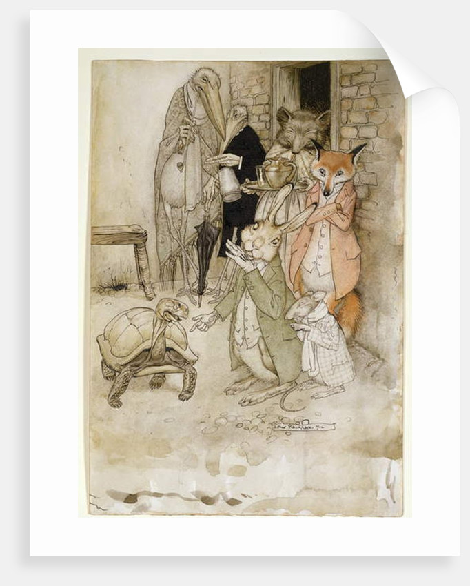 The Hare and the Tortoise by Arthur Rackham