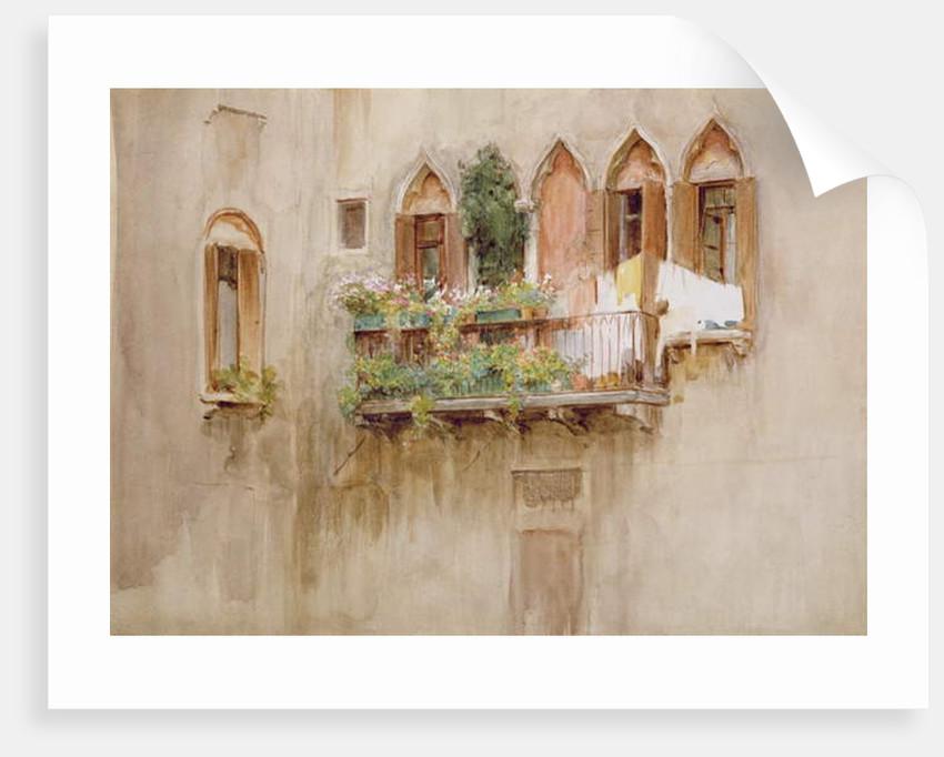 Venetian Balcony by Walter Frederick Roofe Tyndale