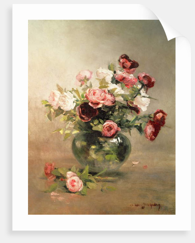 Vase with Roses by Eva Gonzales