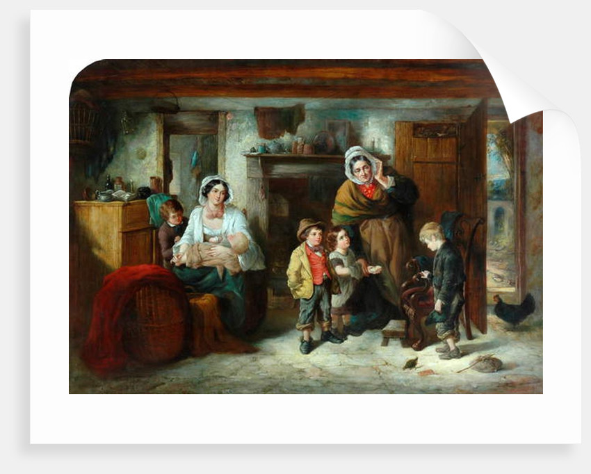 The Mitherless Bairn, 1851-93 by Thomas Faed