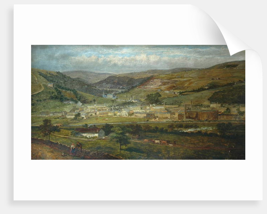 Hebden Bridge from Palace House, Fairfield, 1869 by John Holland