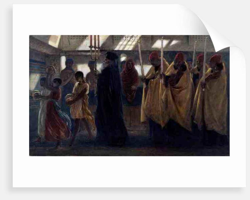 Coptic Baptismal Procession, 1865 by Simeon Solomon
