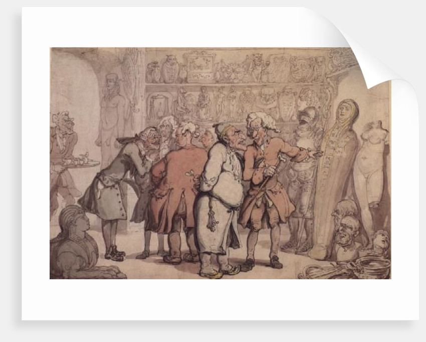 A Group of Antiquaries, c.1805 by Thomas Rowlandson