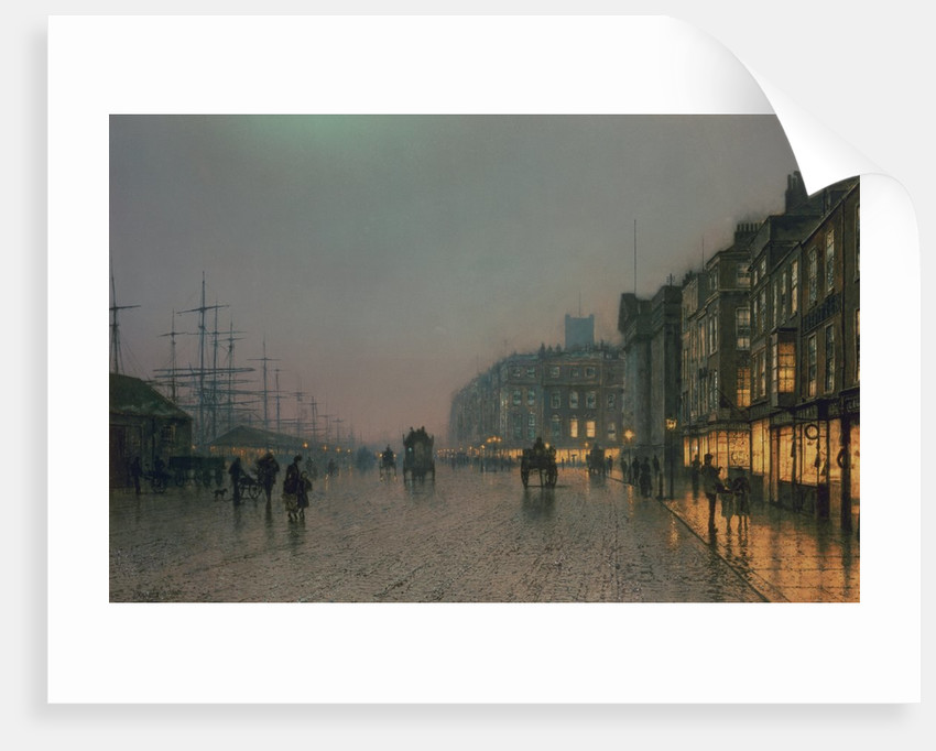 Liverpool Docks from Wapping, c.1870 by John Atkinson Grimshaw