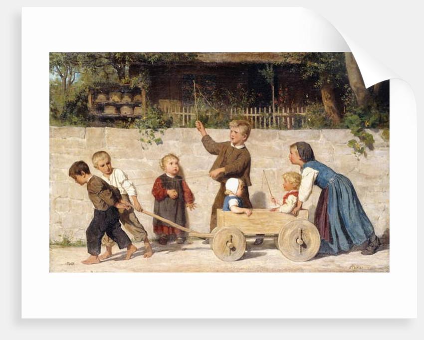 Kindergespann, 1868 by Albert Anker