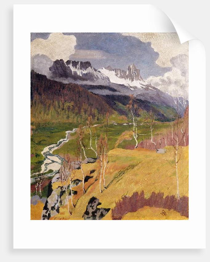 Autumn Landscape by Giovanni Giacometti