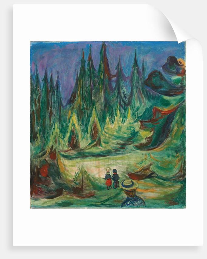 The Fairytale Forest, 1927-1929 by Edvard Munch