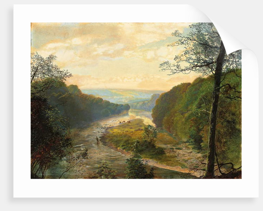 The Wharfe Valley, with Barden Tower Beyond, 1870s by John Atkinson Grimshaw