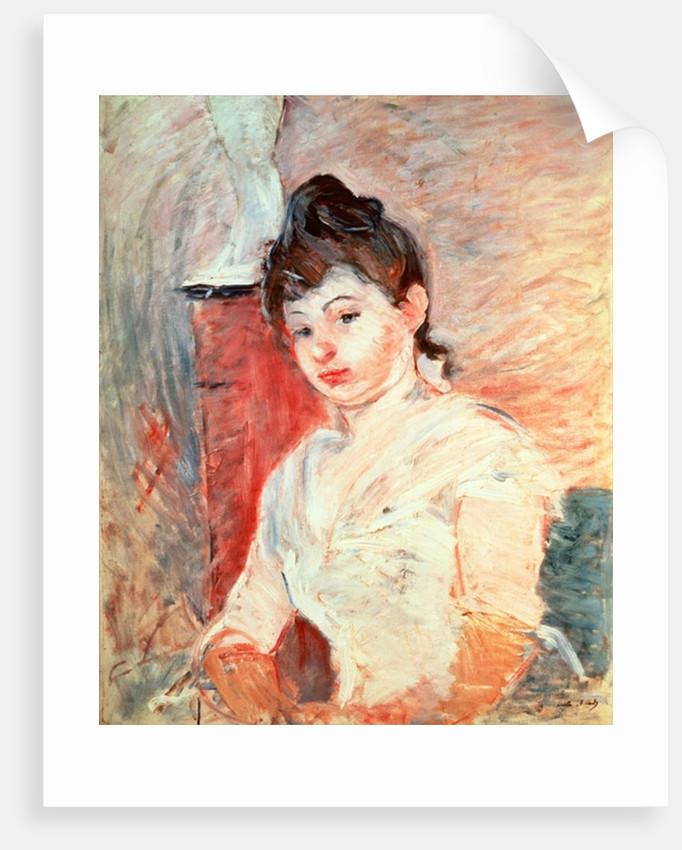 Young Girl in White by Berthe Morisot
