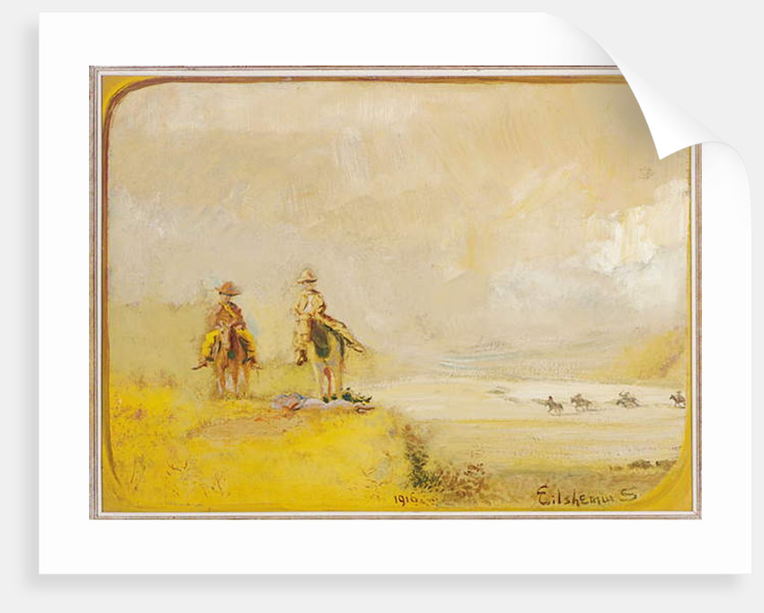 Scouts on Horseback, 1916 by Louis Michel Eilshemius