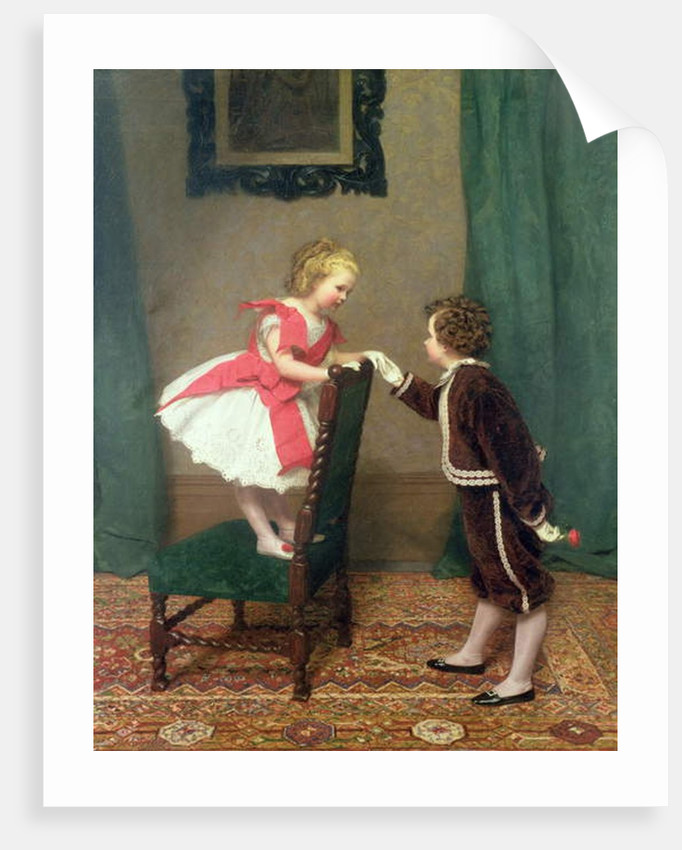 Miss Lily's First Flirtation, 1867 by James Haylar