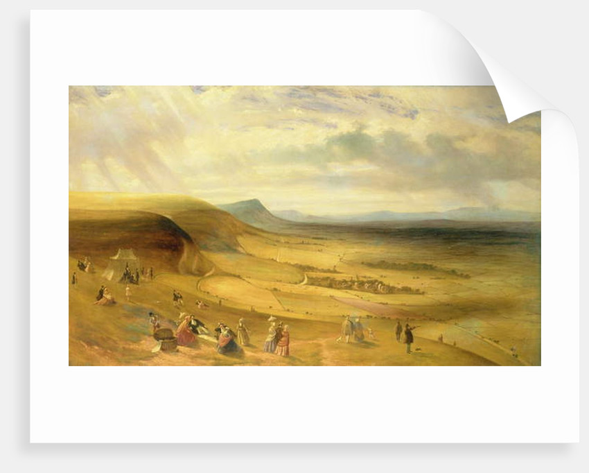 Extensive View of Devil's Dyke, Newmarket With Gentry Picnicking, c.1840 by English School