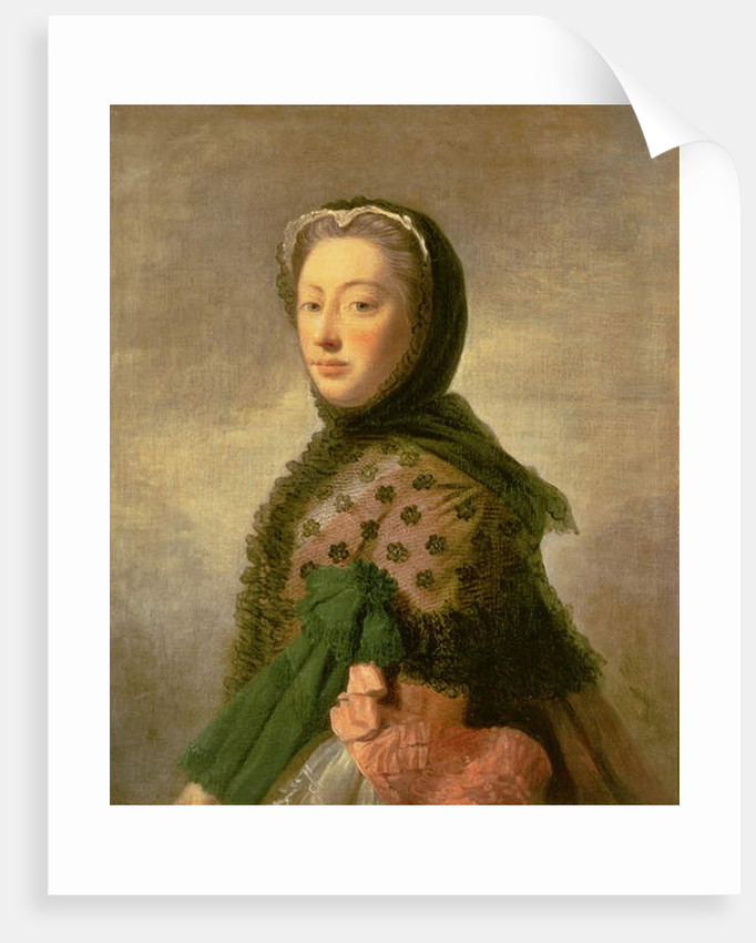Portrait of Augusta of Saxe-Gotha, Princess of Wales by Allan Ramsay
