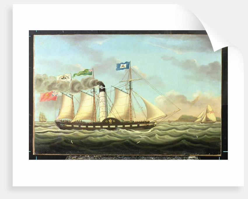 The Steam Packet 'Saint Patrick' On The Liverpool To Dublin Run, 1827 by Miles Walters