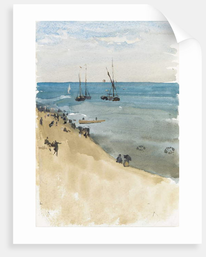 Green and Silver -- The Bright Sea, Dieppe by James Abbott McNeill Whistler