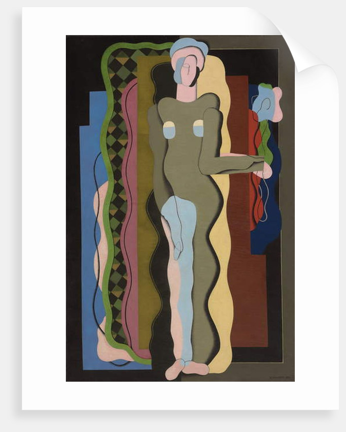 Nude with Flower by Georges Valmier