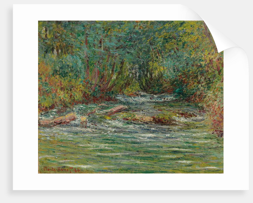 The River Epte at Giverny, Summer by Claude Monet