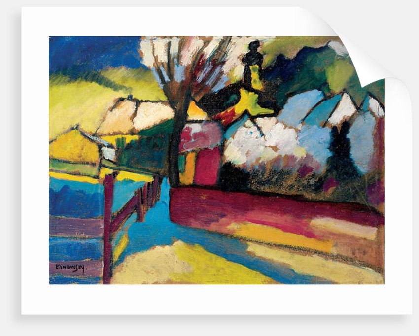 Autumn Landscape with Tree by Wassily Kandinsky
