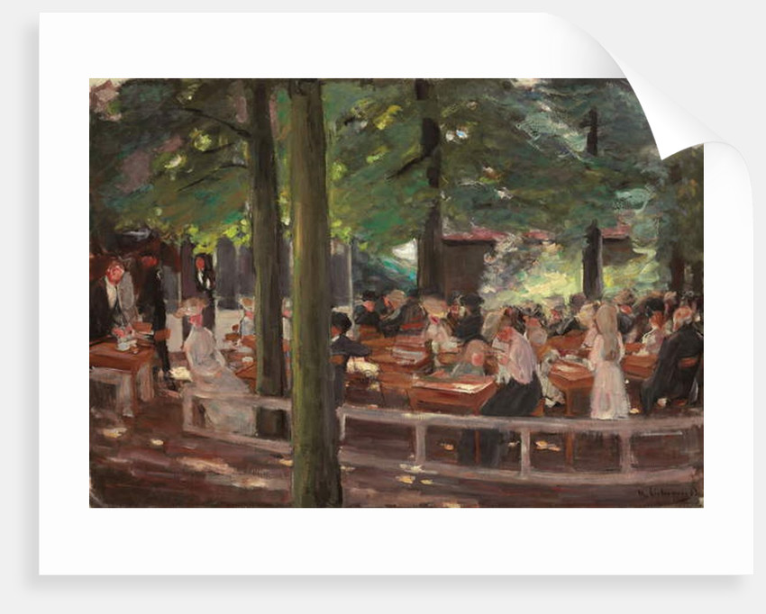 Beer Garden in Laren, Study by Max Liebermann